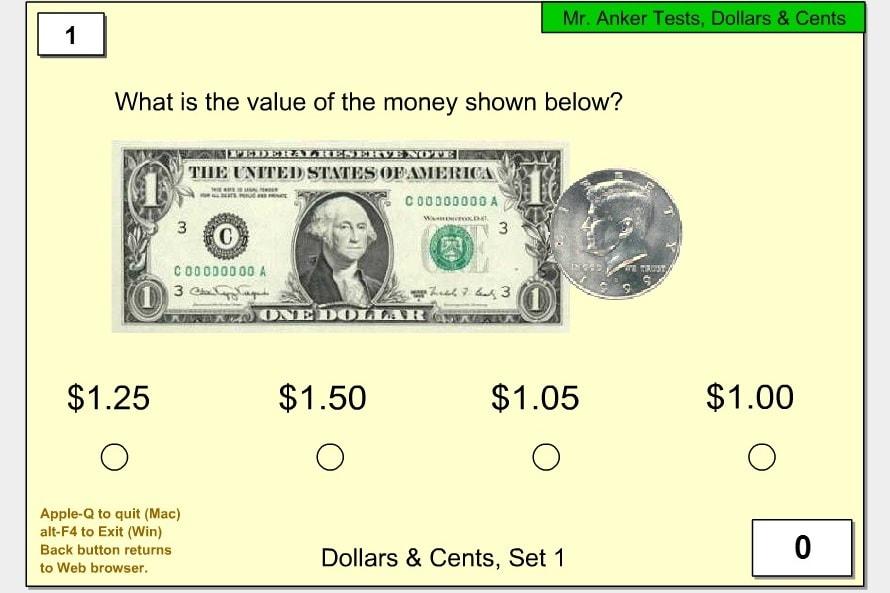 Указать сколько доларов и центов