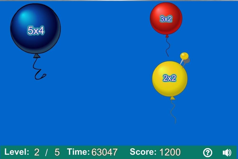 Умножение стрельба по шарикам уровень 1