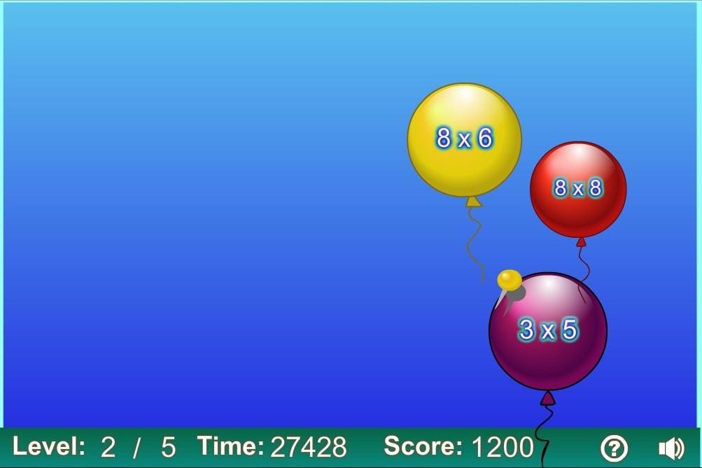 Умножение стрельба по шарикам уровень 2
