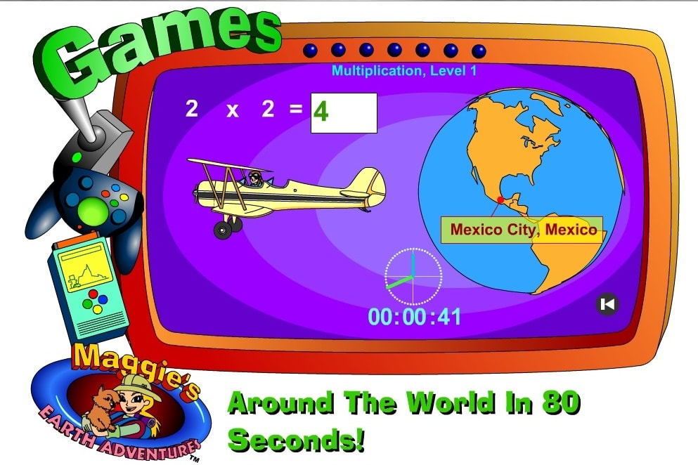 Умножение Вокруг света за 80 секунд