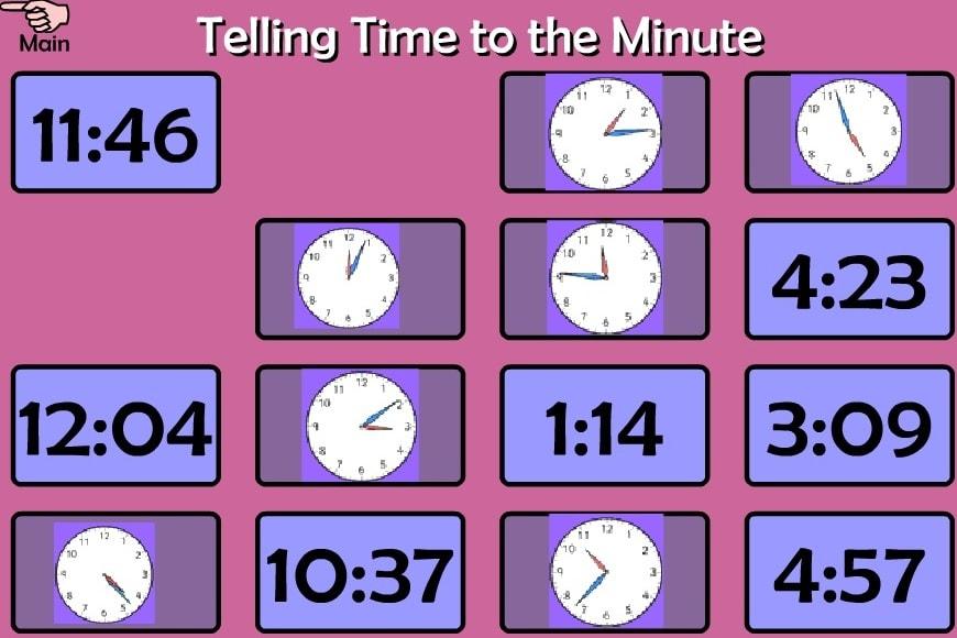 Подбери время и часы