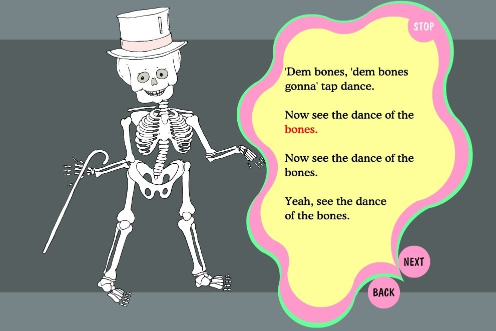 Танцующий скелет человека
