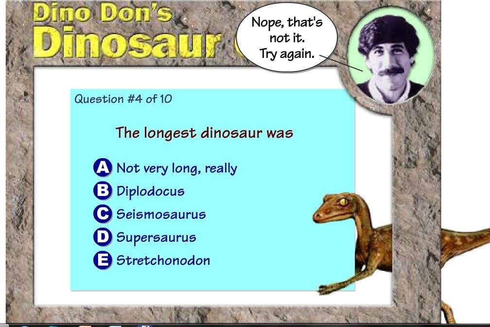 Динозавр Викторина