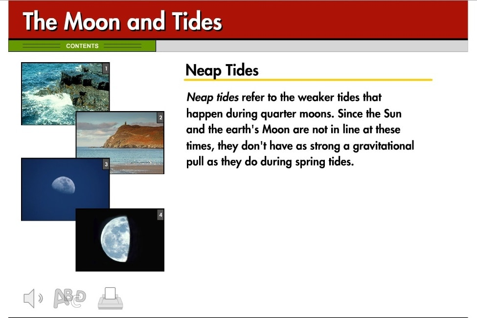 Влияние Луны на приливы на Земле