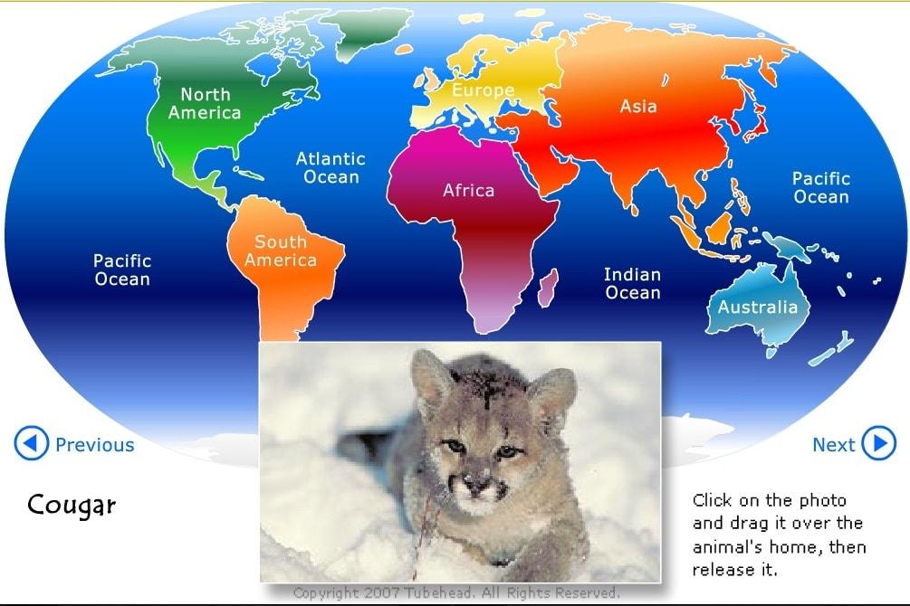 Где проживают животные