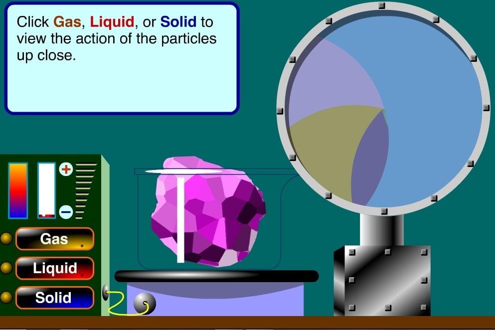 Состояния вещества молекулы