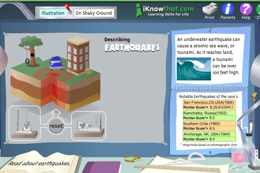 Землетрясения наглядное пособие