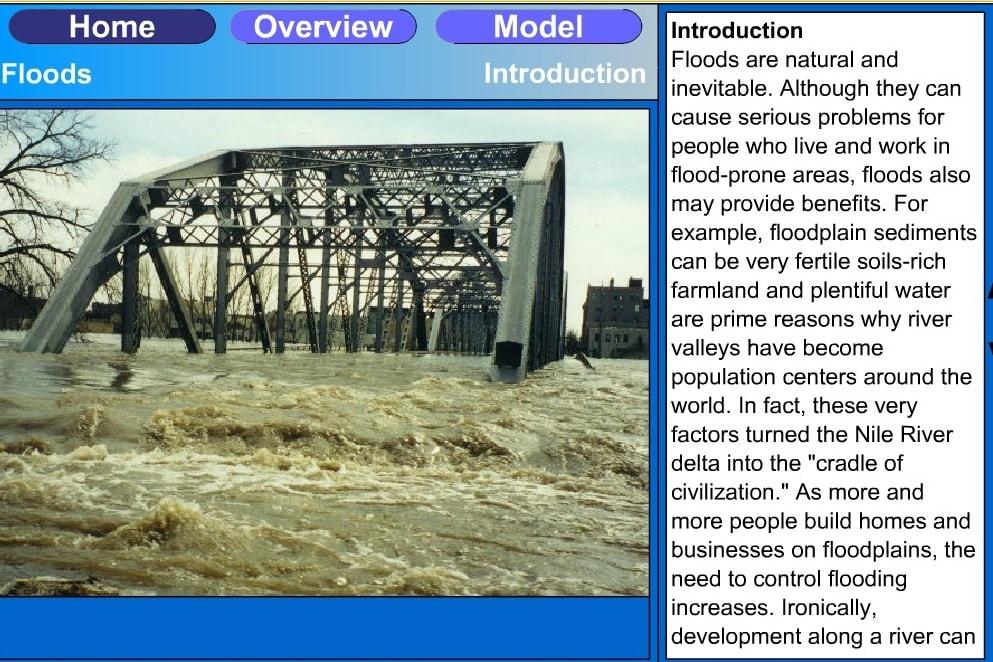 Наглядное пособие наводнение