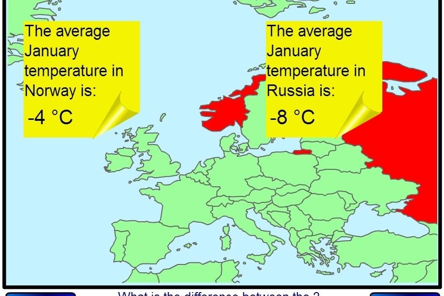 Температуры стран Европы