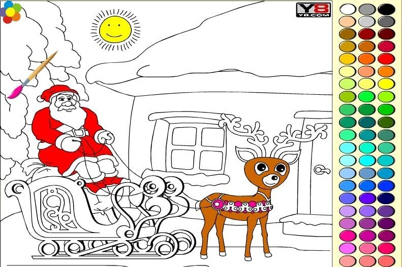 Рождественские раскраски 2