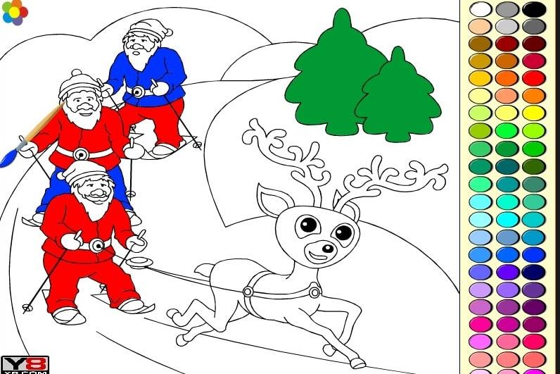 Рождественские раскраски 4