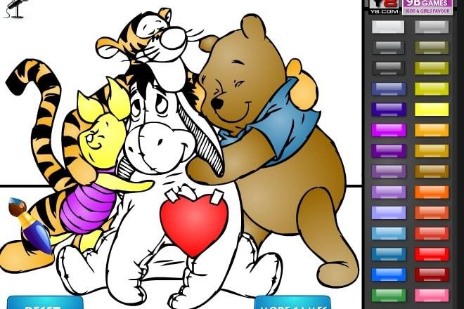 Винни Пух и его друзья раскраски