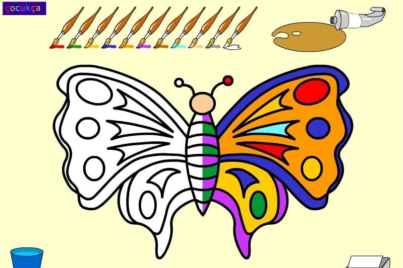 Раскраска бобочки