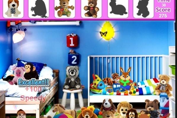 Поиск предметов в детской комнате