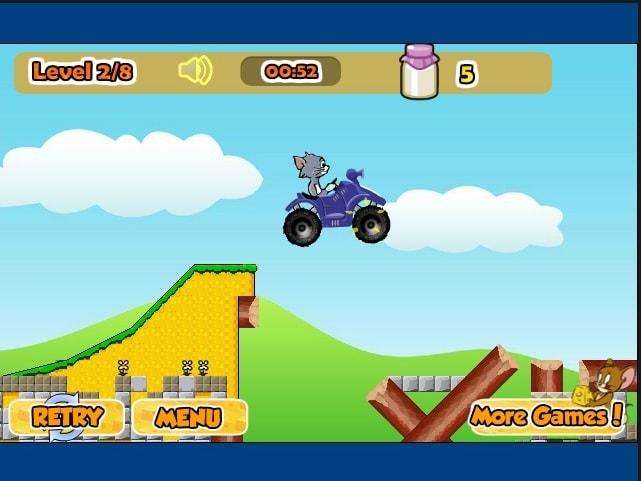 Том и Джерри езда на авто