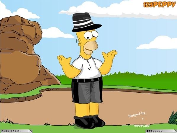 Гомер одевается