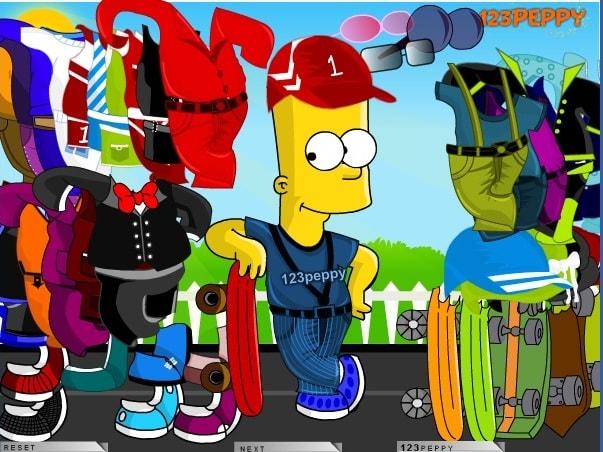 Барт Симпсон - скейтбордист