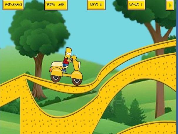 Гонка на мотоцикле с Бартом