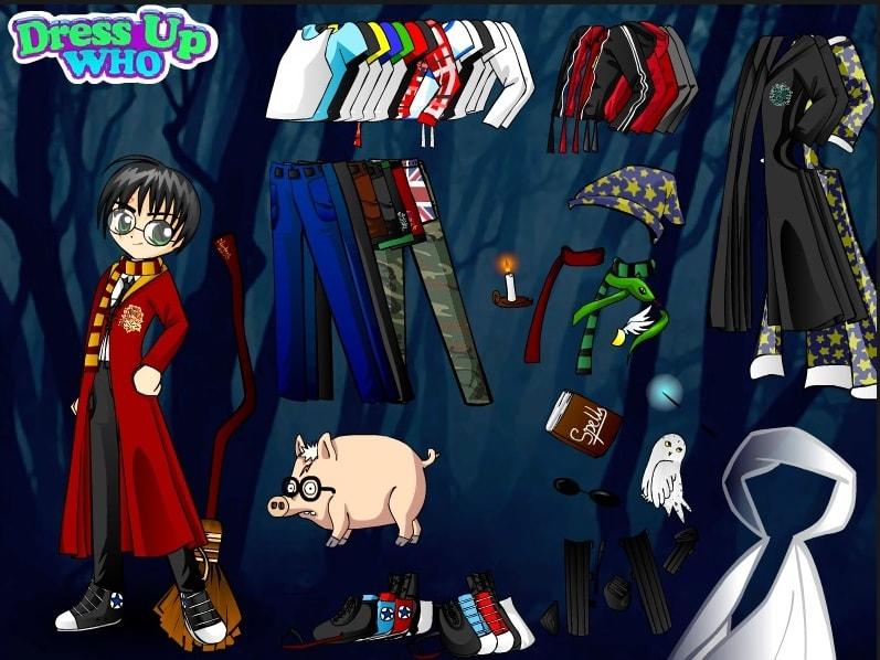 Гарри Поттер одевается