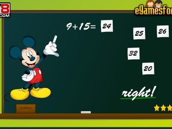 Микки Маус Обучение математике