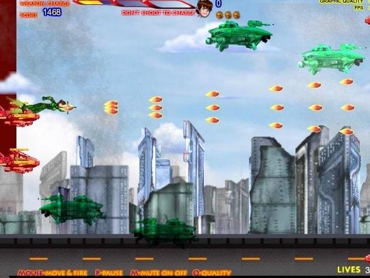 Бен 10 война с инопланетными кораблями