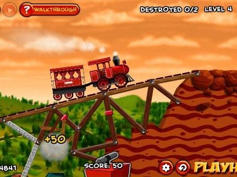 Разрушь железнодорожный мост