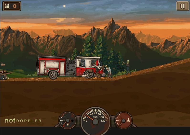 Давим зомби на грузовике онлайн