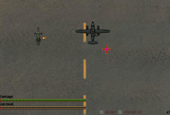 Взлетаем на военном самолете онлайн