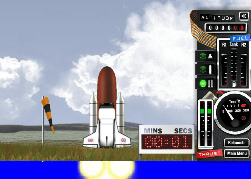 Взлетаем на космическом шатле онлайн