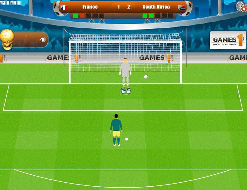 Забей пенальти в ворота онлайн
