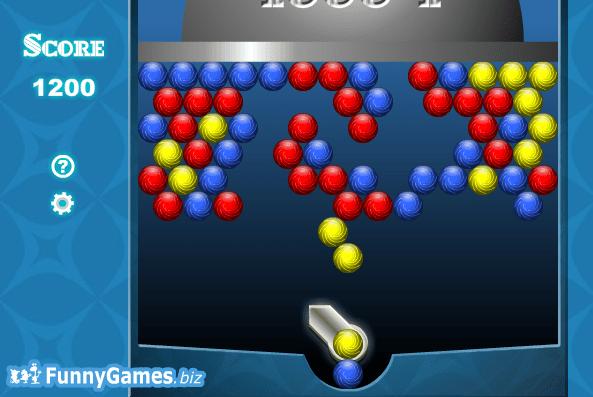 Стреляй в цветные мячики онлайн