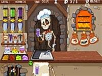 Скелет готовит обед