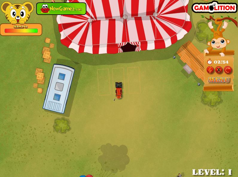 Парковка грузовика из цирка онлайн