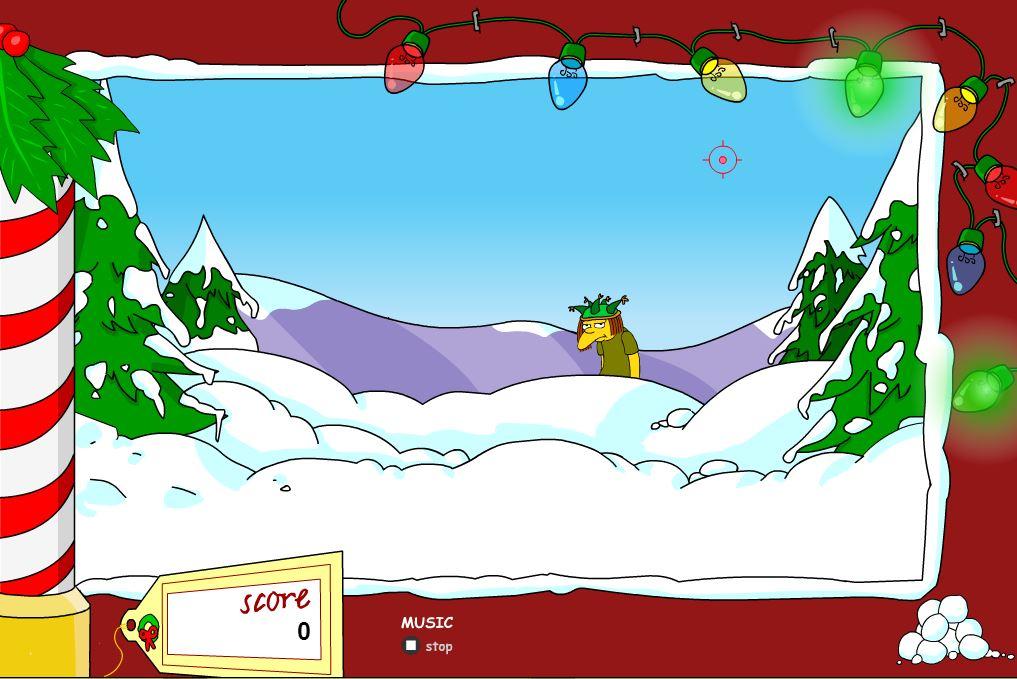 Снежки с Симпсонами