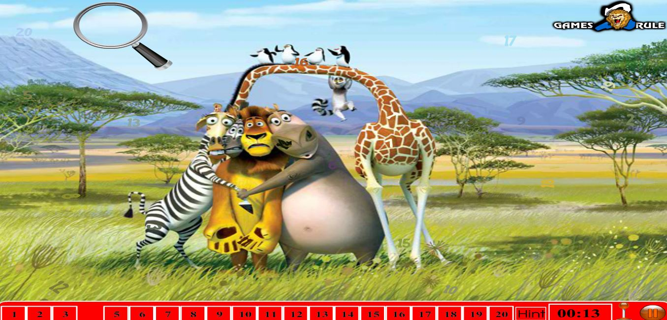 Мадагаскар поиск чисел